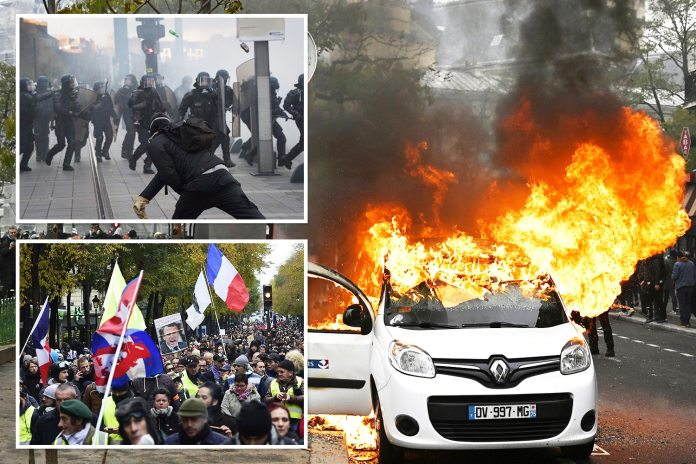 Violence erupts in Paris on first anniversary of Yellow Vest protest movement