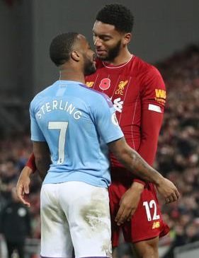 Raheem Sterling has taken responsibility for this flare-up with Joe Gomez