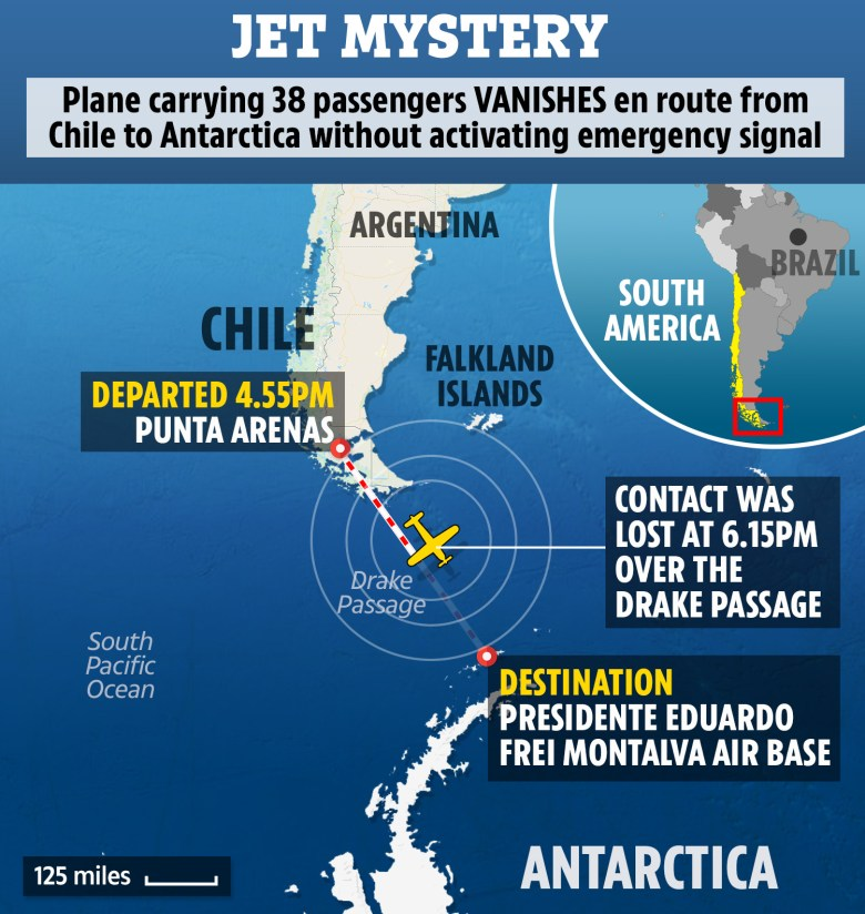 Image result for Chilean military plane carrying 38 people goes missing