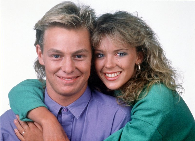 Kylie Minogue with Jason Donovan in their Neighbours hey-day