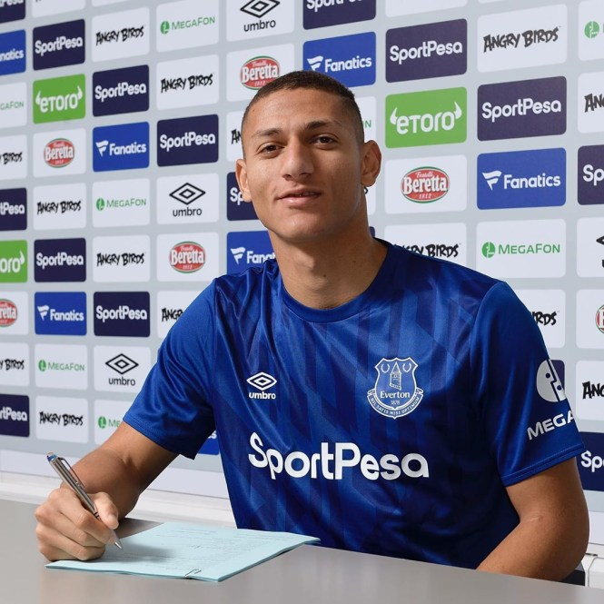 Richarlison has put pen to paper on a fresh five-year contract at Everton