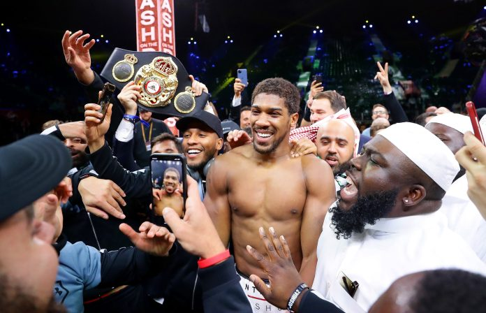 Image result for anthony joshua reclaims titles getty images