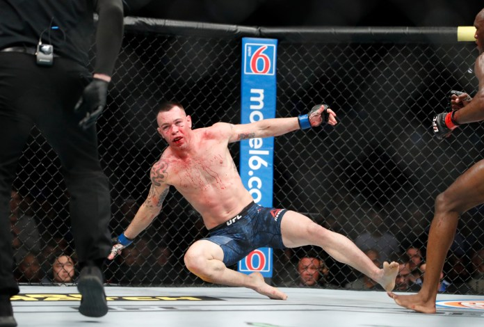 Colby Covington was sent flying by Kamaru Usman
