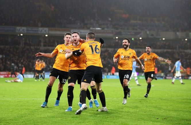 Matt Doherty struck late as Wolves completed a stunning comeback against Man City