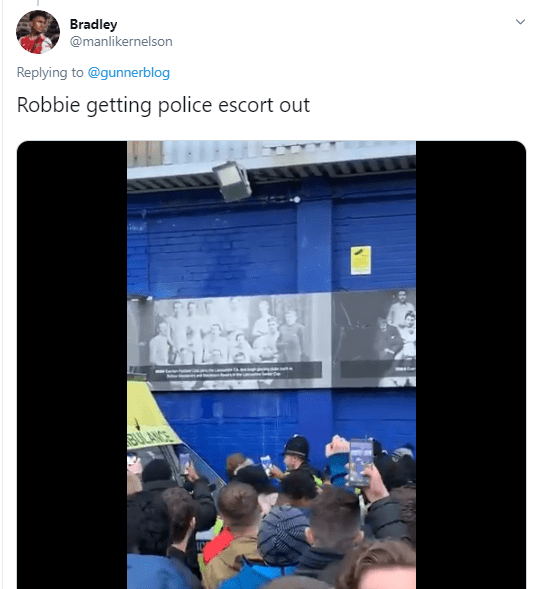 Furious Fans Confront Robbie From Arsenal Fan Tv And Sing Get Out