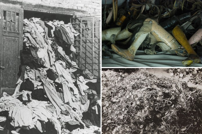 Harrowing pics of clothes and prosthetics when Auschwitz liberated 75 yrs ago