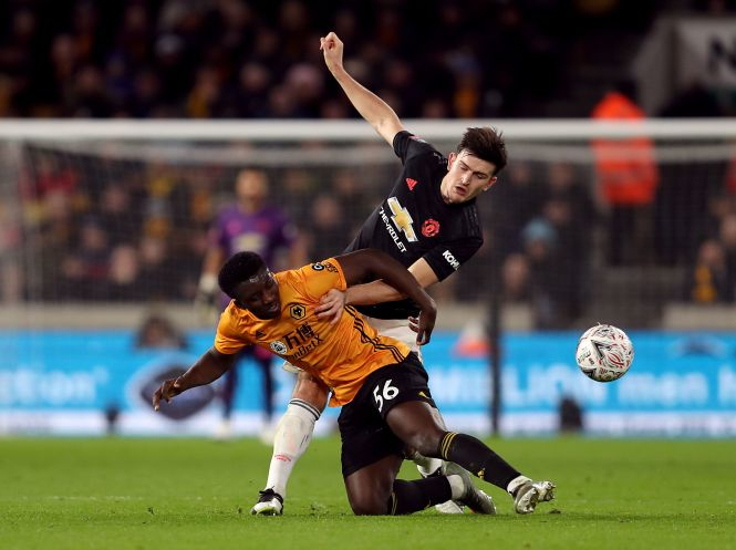 Harry Maguire Wolves Manchester United