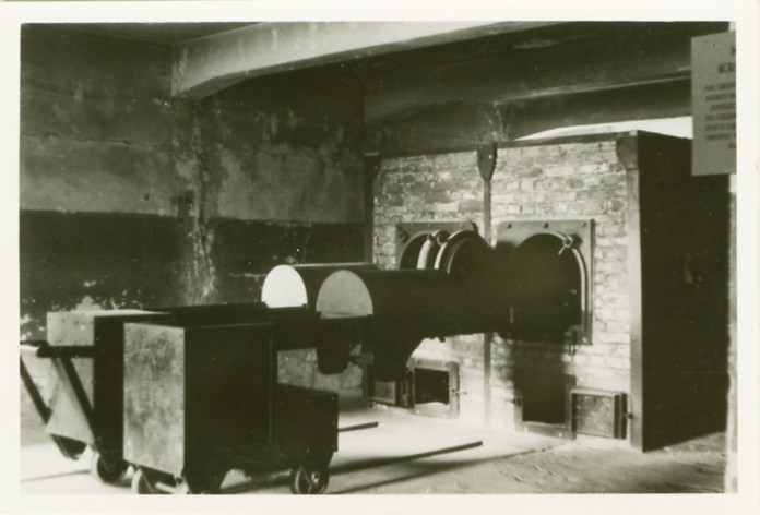 An oven used to cremate victims of the gas chambers