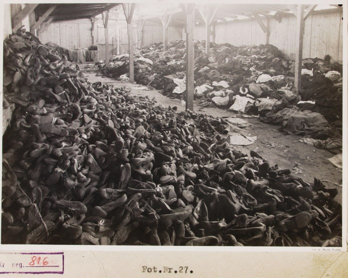 Often inmates would be forced to strip the corpses of those murdered in the gas chambers