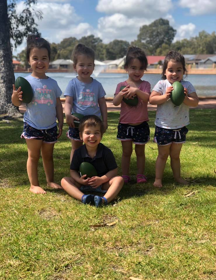 The quintuplets are now four years old and started potty training last year