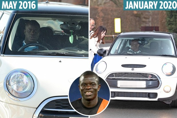 N'Golo Kante still drives the same Mini he's owned since signing ...