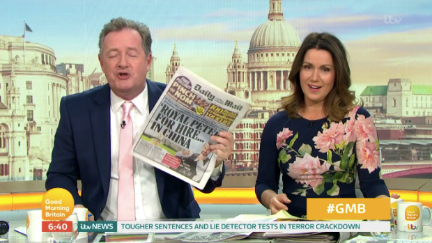Susanna Reid and viewers were exasperated by Piers' comments