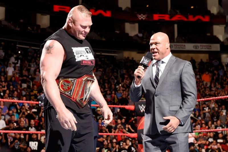 Brock Lesnar would not make Kurt Angle's WWE Mount Rushmore