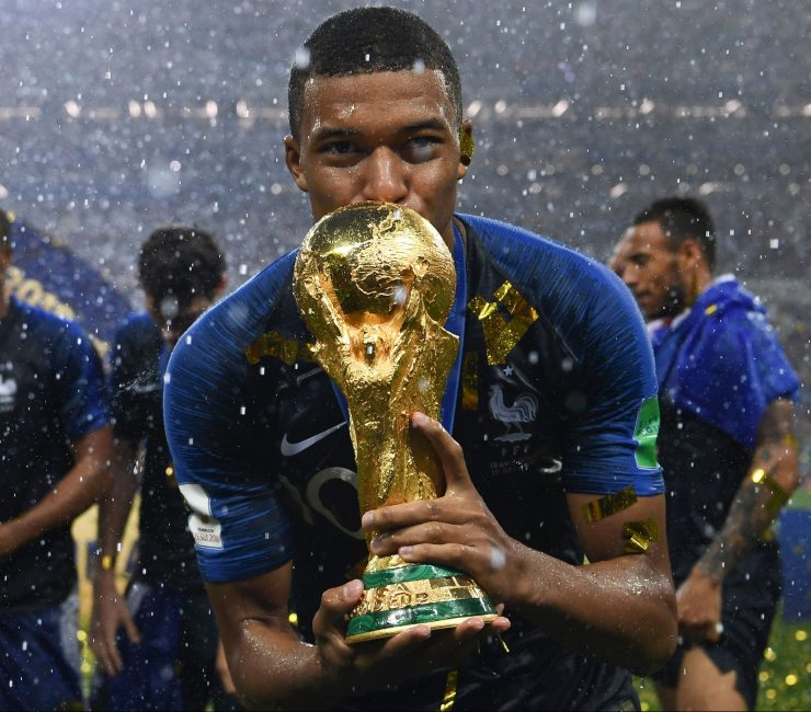 In 2018 Mbappe helped France win the World Cup