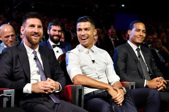 Lionel Messi and Virgil van Dijk have both been with Juventus to join Ballon d'Or rival Cristiano Ronaldo