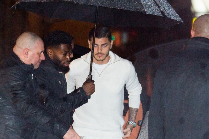 Icardi braves the elements