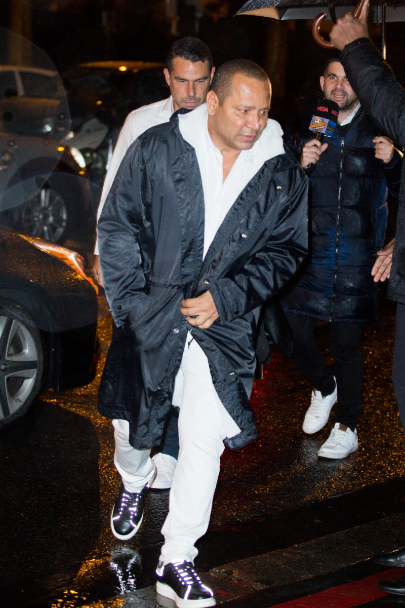 Neymar's dad broke the code briefly when he arrived in a black coat