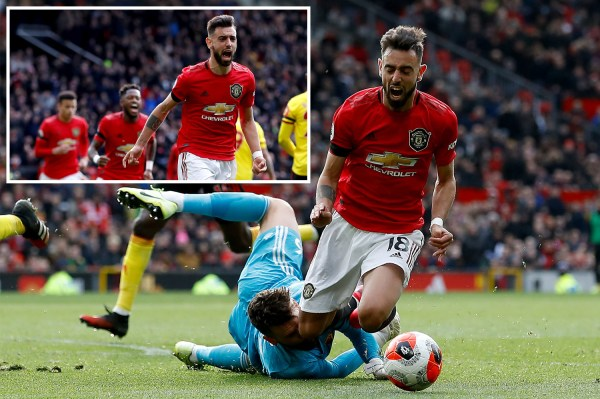 Bruno Fernandes dazzles as he scores first goal and sets up two more to keep up top-four chase