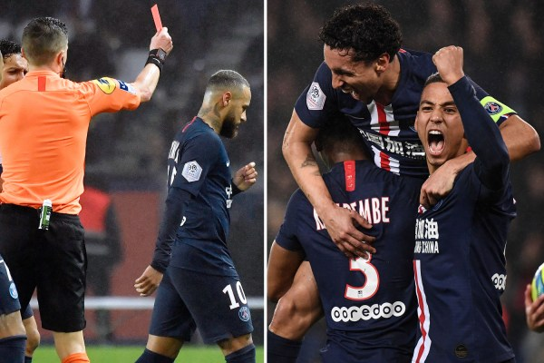 PSG 4 Bordeaux 3: Neymar to be banned in Rio Carnival season again after red card in thriller