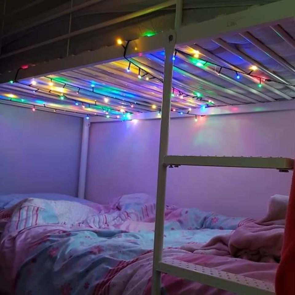 Black girl white guy sex on bunk bed Mum Slammed For Hanging Fairy Lights On Her Daughter S Bunk Bed After Makeover