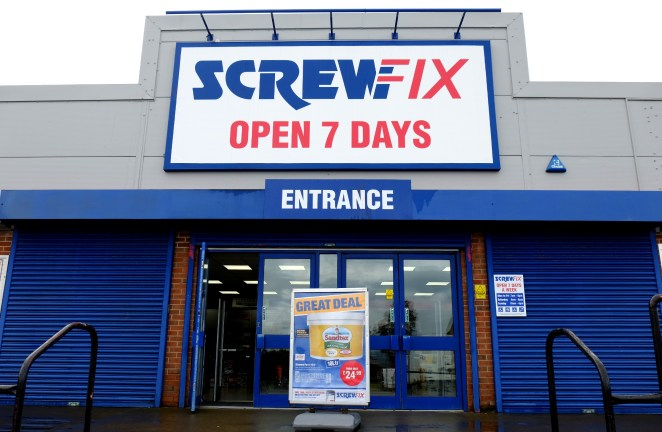 Hardware stores including Screwfix will remain open although some are temporarily closing stores today only