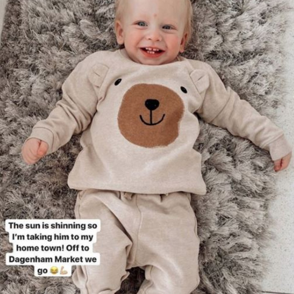 The star shared a sweet picture of Rex before they left