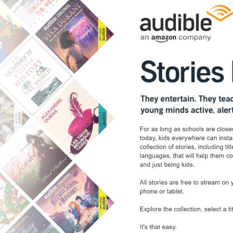 Audible giving away hundreds of free children's books during ...