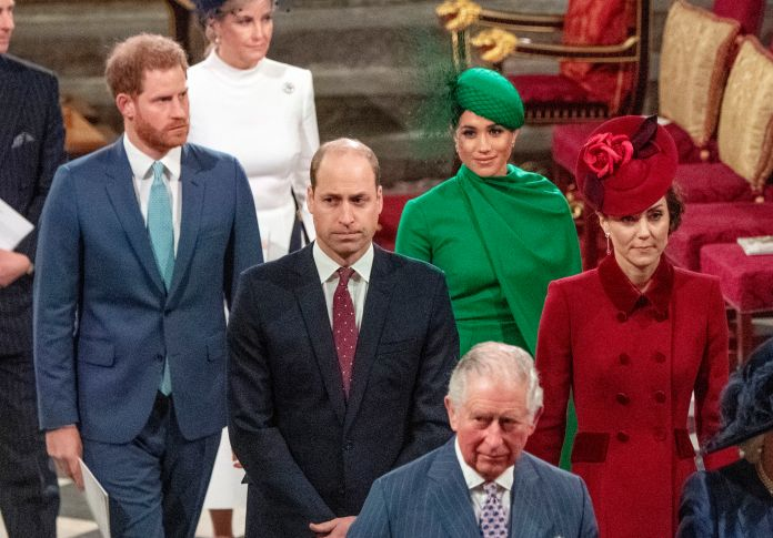 Prince Charles was last seen with his sons and wives at the Commonwealth Service