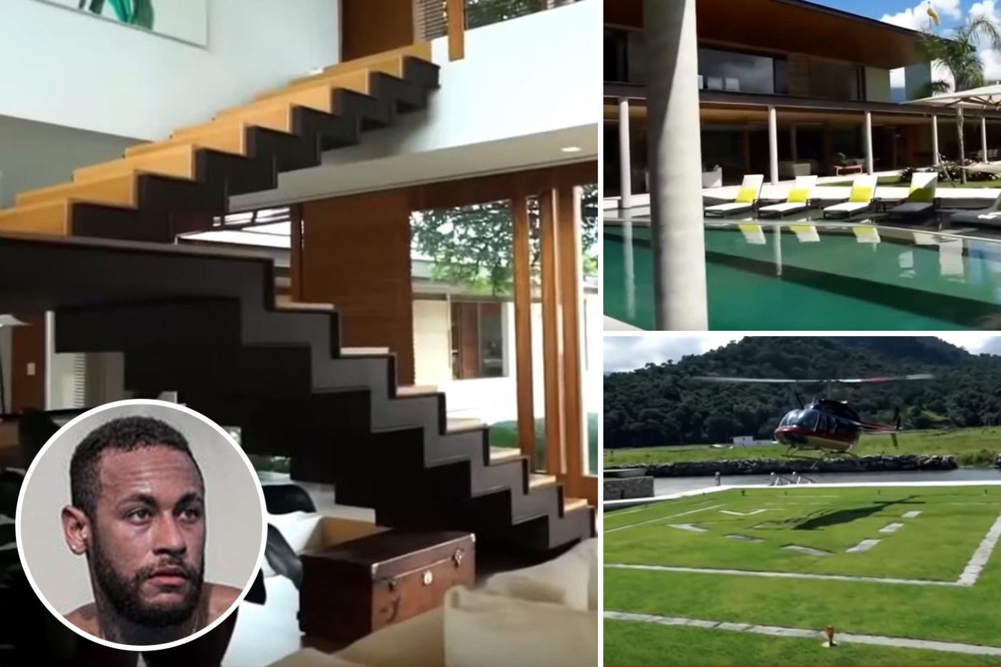 Neymar's amazing £7m mansion with helipad and jetty where he is ...