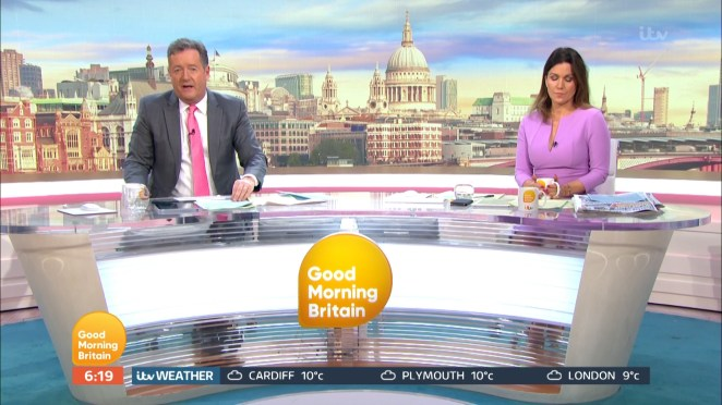 Piers Morgan and Susanna Reid on Good Morning Britain today spoke about coronavirus, with Piers revealing his son had shown symptoms