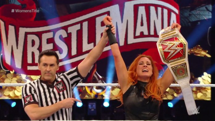 Becky Lynch retained title at WrestleMania 36