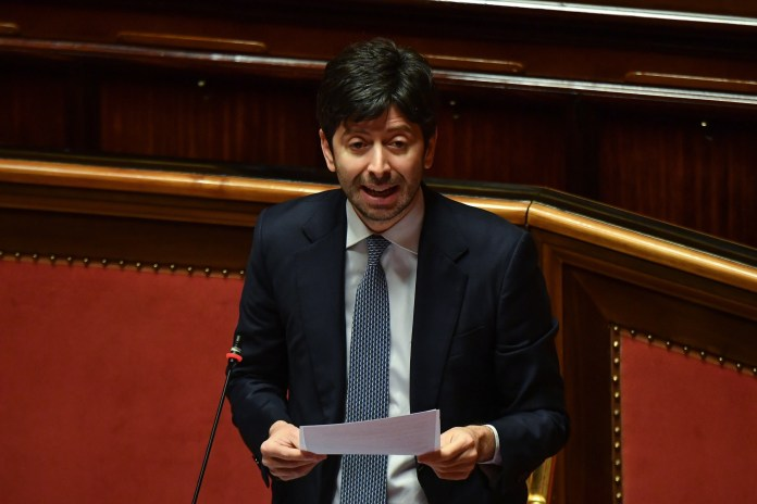 Health Minister Roberto Speranza spoke of a gradual easing of restrictions