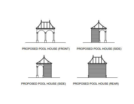 The couple will also build a Victorian-style locker room by the pool