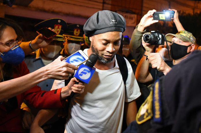 Ronaldinho was placed under house arrest in Paraguay