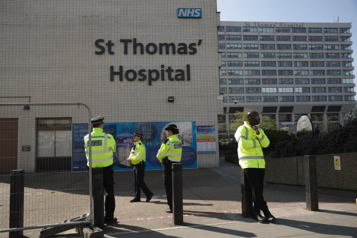 Mr. Johnson received treatment at St Thomas Hospital in London