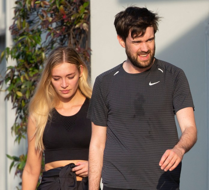 Jack Whitehall is locked out with new flame Roxy Horner