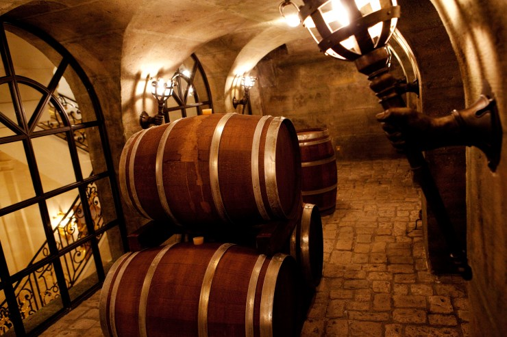 The wine cellar can store up to 3,000 bottles