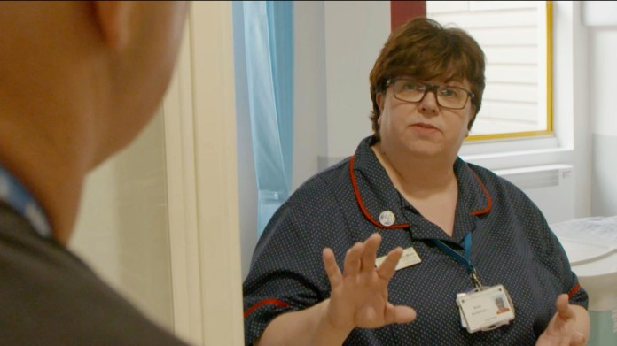 Nursing Director Nicky Burns-Muir explained to Ross how Covid-19 affects staffing levels
