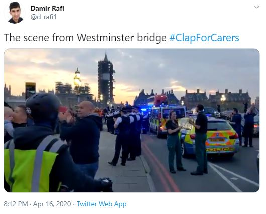 Stunned doctor filmed scene - wondering how sensible it was to have a mass rally