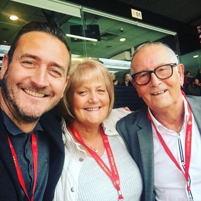 Will Mellor with his mum and dad Shirley and Bill