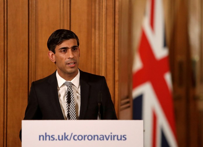 Chancellor Rishi Sunak announced government plan to support workers