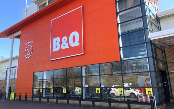 B&Q reopens 61 other stores in the UK