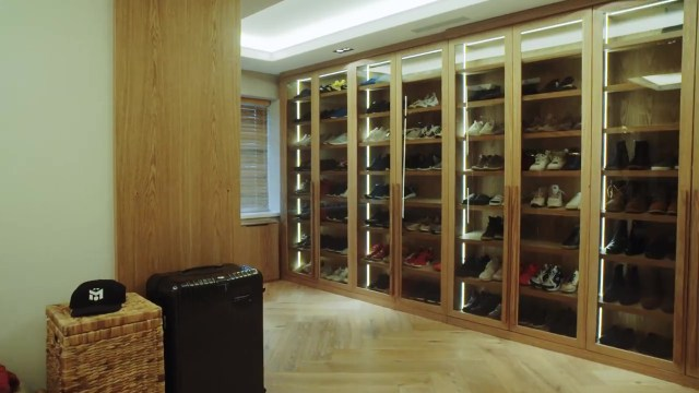 The Gunners hero stores his trainers in their own room