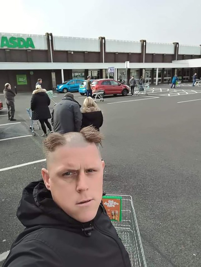 A part of Biblical proportions! This man terrified fellow shoppers at the supermarket