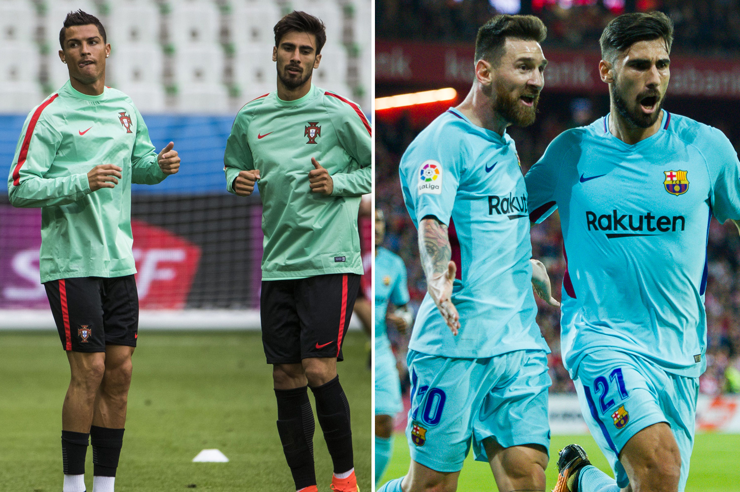 Gomes spent time with Messi at Barcelona and still plays with Ronaldo for Portugal now