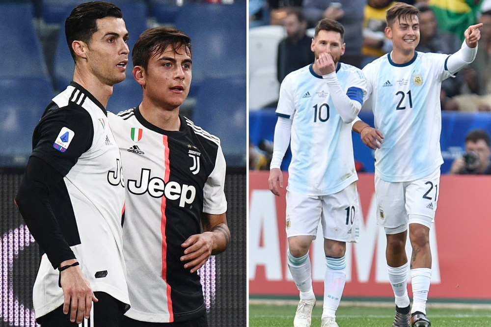 Dybala is a current team-mate of Messi and Ronaldo - and couldn't separate the two
