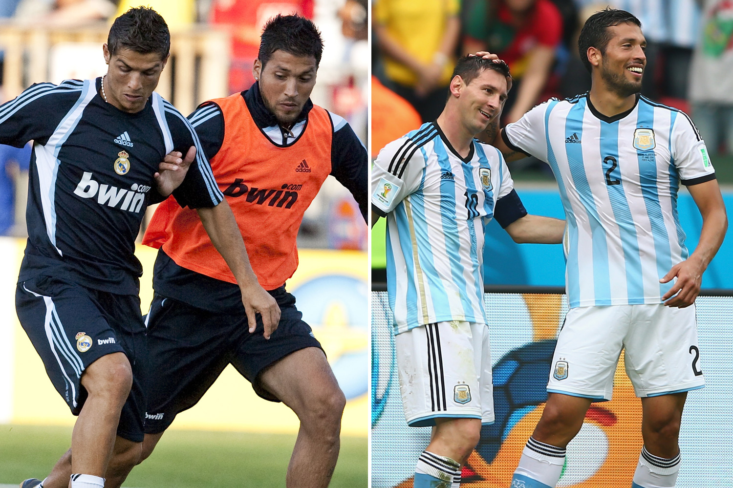 Garay opted for his fellow Argentine Messi over Ronaldo