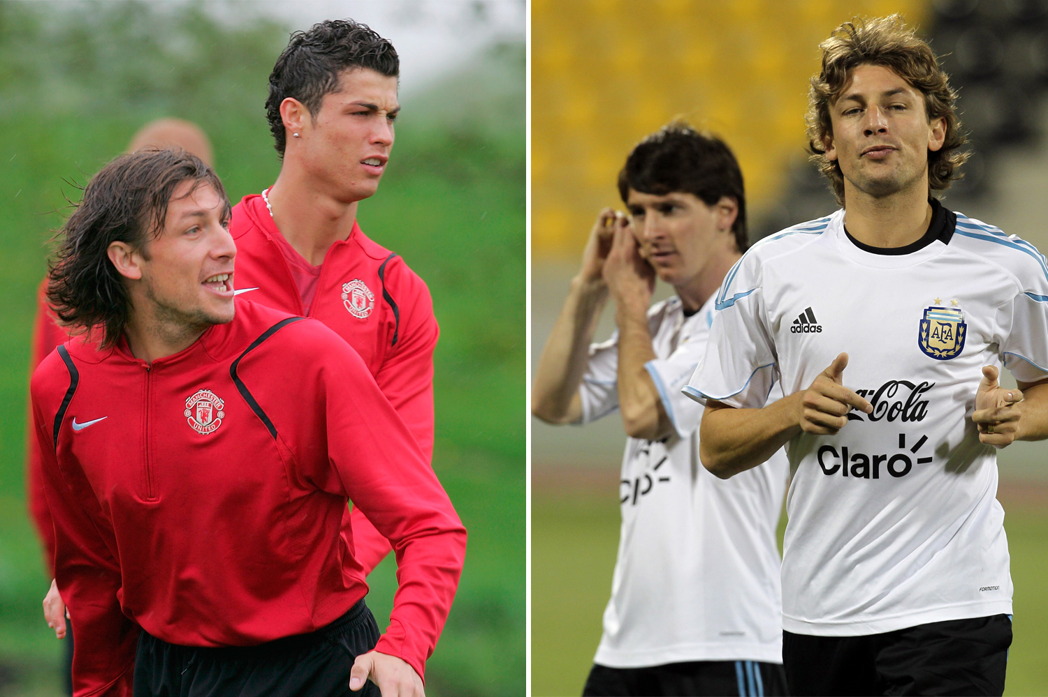 Heinze was the only star to play alongside both who opted for Ronaldo