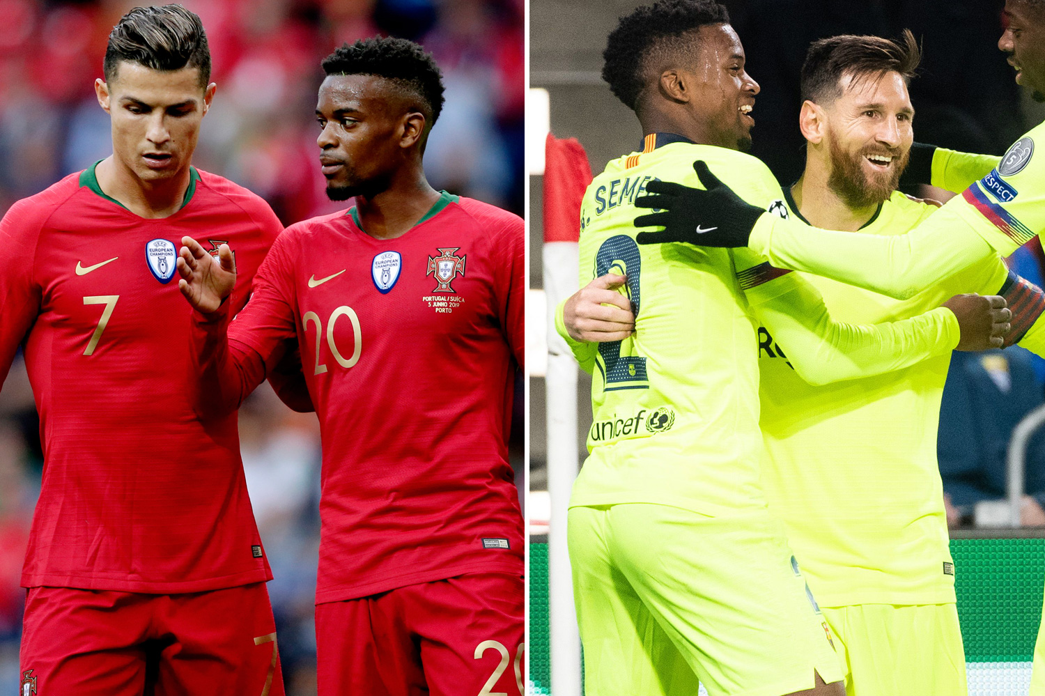 Semedo is a current team-mate of both Ronaldo and Messi