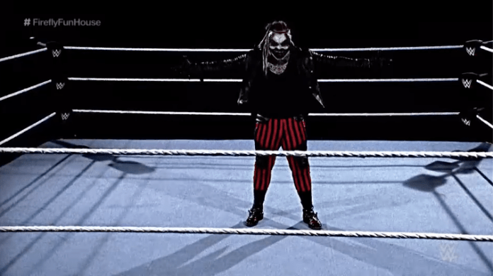 The demon demanded his revenge for his defeat against Cena at WrestleMania 30